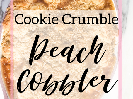 Cookie Crumble Peach Cobbler