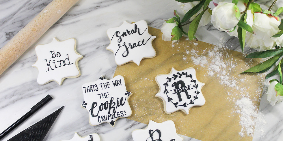 Cookie Calligraphy- How to Write on Cookies, No Projector Required