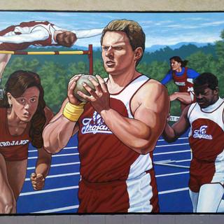 """Clark Athletic Complex Track Mural"""