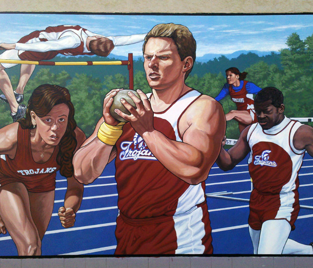 """Clark Athletic Complex Track Mural"""