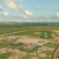 """Kincaid Mounds circa 1300 CE"""