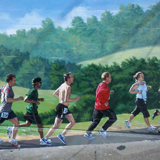 """Vicksburg Runners Mural"""