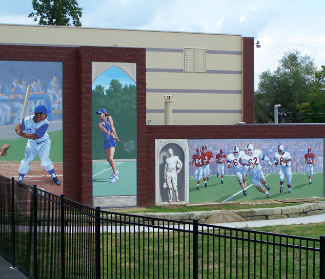 """P.H.S. Clark Athletic  Complex Murals"""