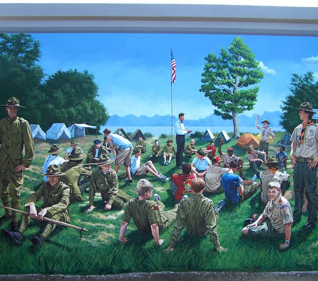 """Boy Scout Mural"""