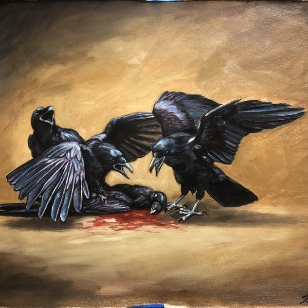 """""""Love and Death among the corvids"""""""