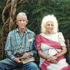 """Portrait of J.C. and Garnet Roe"""