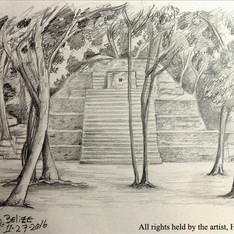 """""""Structure B1 Cahal Pech in San Ignacio, Belize"""""""