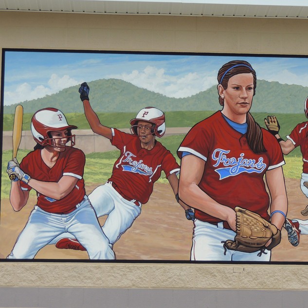 """Clark Athletic Complex Girls Softball Mural"""