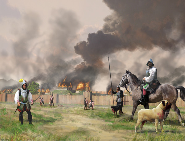 """Hernando de Soto burns Mabila"""