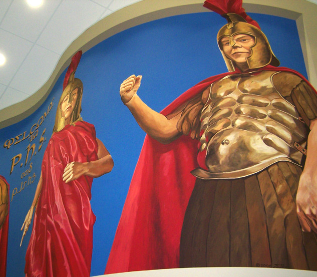 """Captain Trojan Murals"""