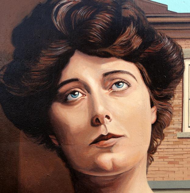 """""""Julia Marlowe Mural repaint"""""""