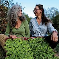 Sophie Thisse et Evelyne Martin-Abadir, exploitantes de plants maraîchers et aromatiques en agriculture biologique à Touet-sur-Var et Villars-sur-Var