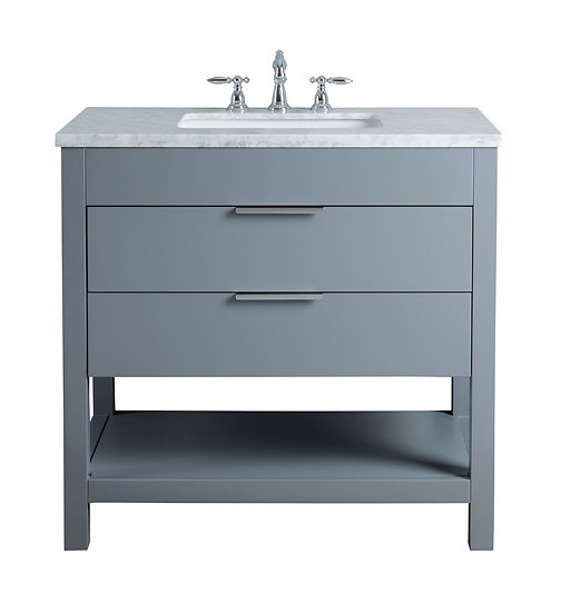 "Rochester 36"" Grey Single Sink Vanity"