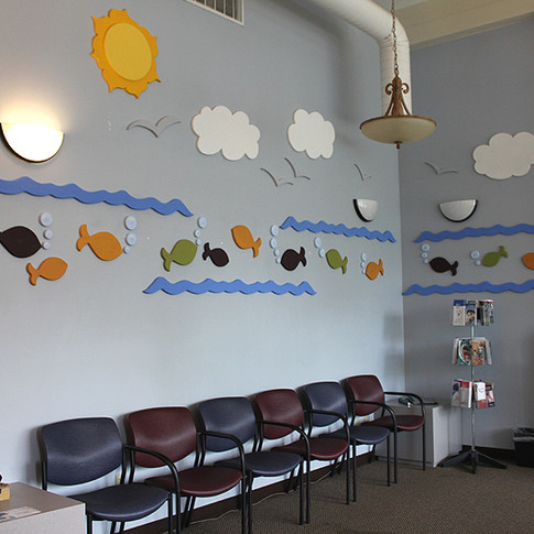 Waiting Room Wall Redesign - After