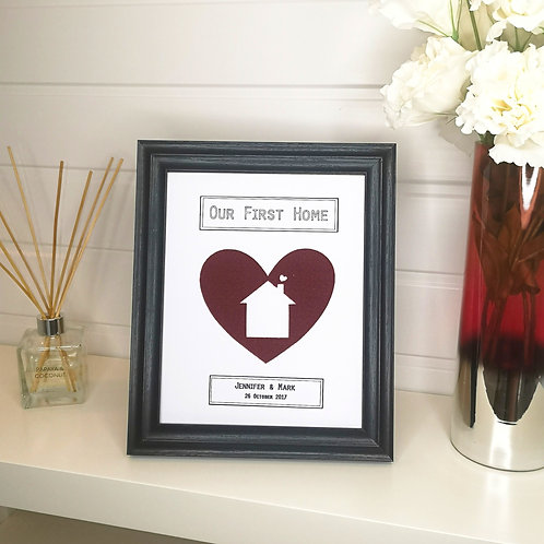 First Home Cut Out Gift Frame