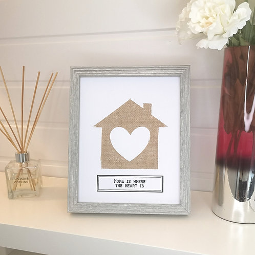 House With Heart Cut Out Gift Frame