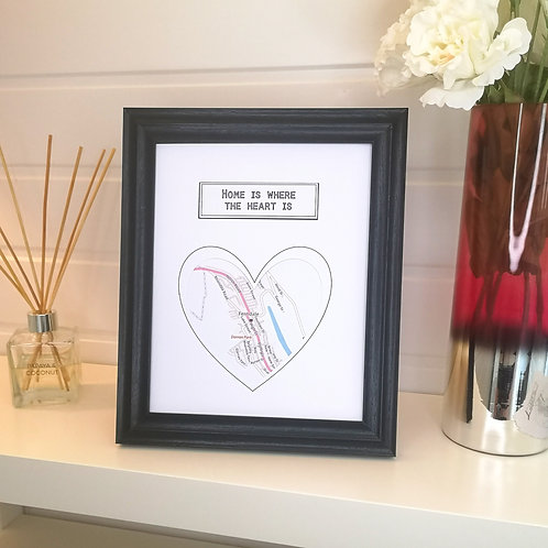 Map Cut Out Gift Frame