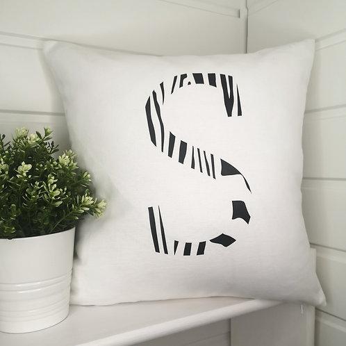 Letter Print Cushion