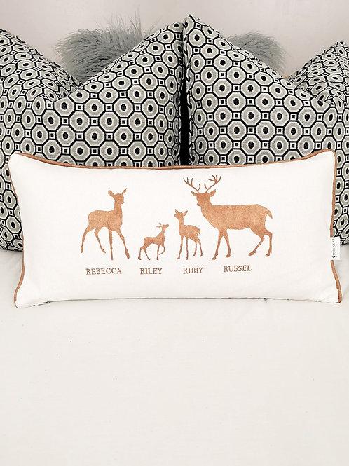 Hand Painted 4 Deer Cushion