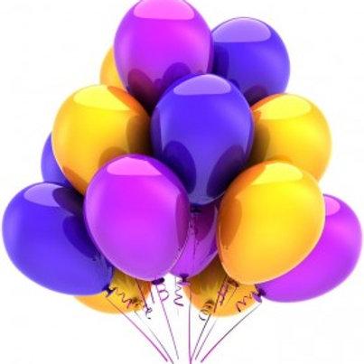 Шары пастель - фиолетовые-желтые-малиновые
