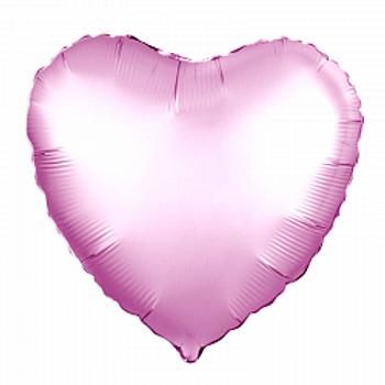 Сердце розовый сатин подарки Ногинск Черноголовка