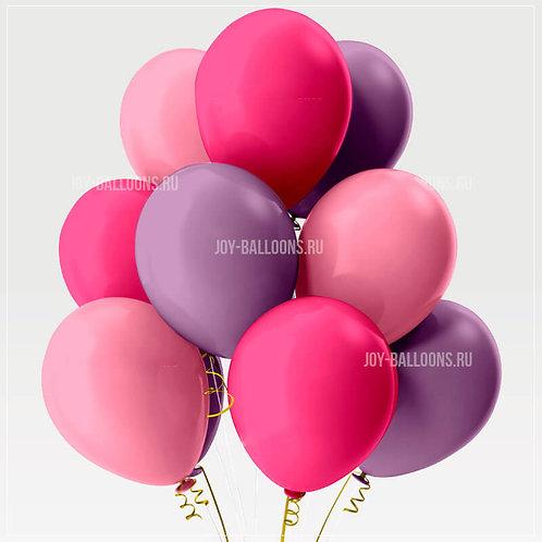 Шары пастель - розовые-малиновые-сирень