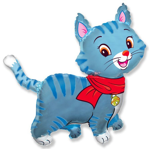 Голубой котенок доставка воздушных шаров Московская облость
