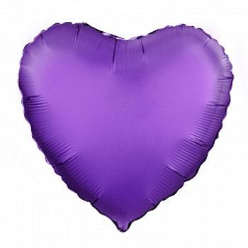 Сердце фиолетовый сатин доставка Балашиха