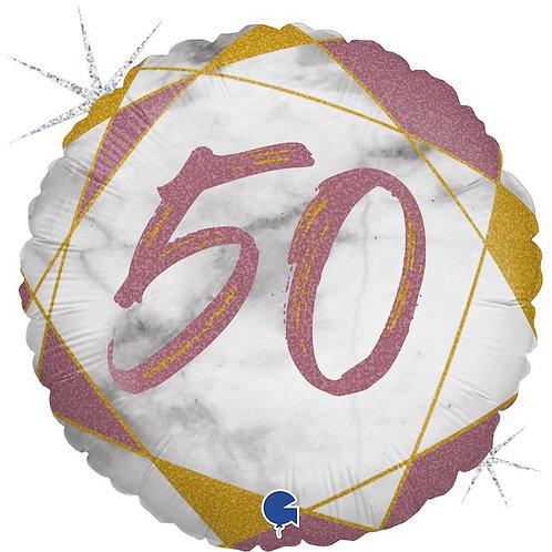 Цифра 50 на шаре