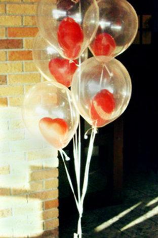 """Фонтан из шаров """"Мое сердце"""""""