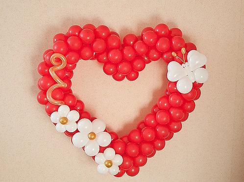 Сердце плетенное №1