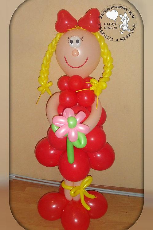 Девочка в красном платье №2