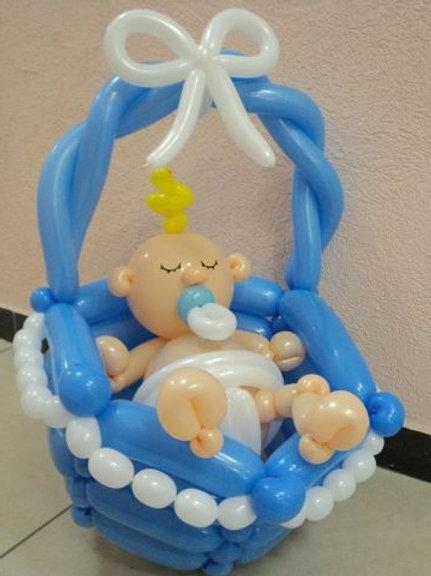Младенец в корзинке №4