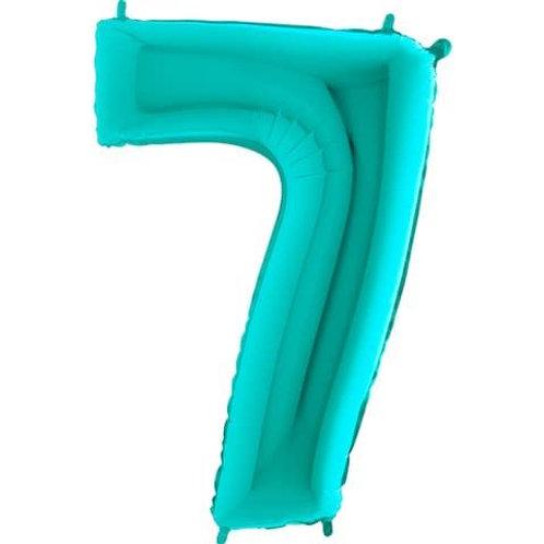 Цифра Бирюза (Тиффани)  от 0 до 9