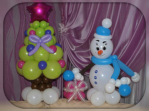 Набор Снеговик и Ёлка!