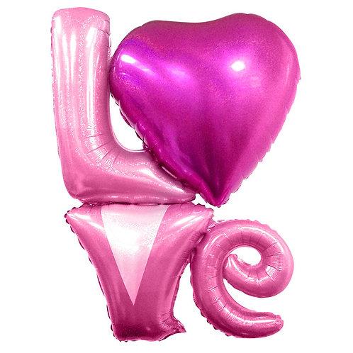 "Надпись ""LOVE"", Розовый"
