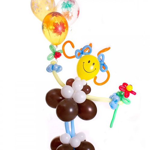 Фигура ПЕРВОКЛАШКА с шарами