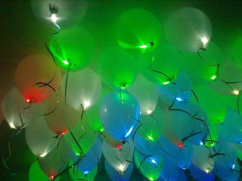 Светящиеся шары №1 (15 шт) мигающие
