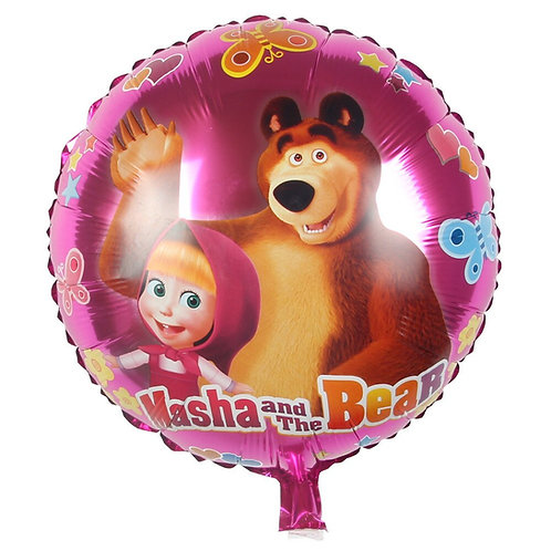 Шар круглый Маша и Медведь