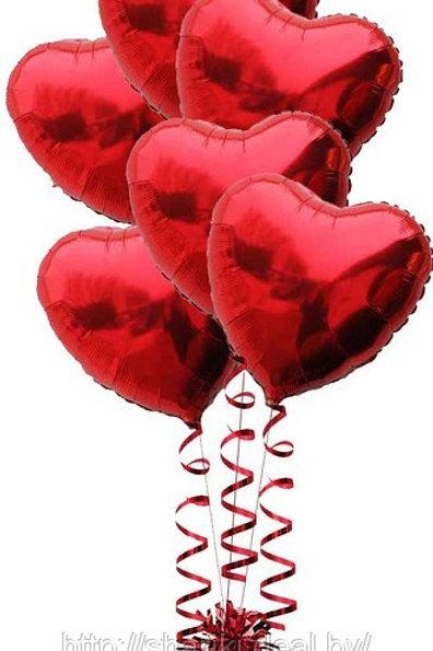 """Фонтан из шаров """"7 сердец"""""""