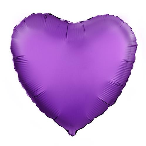 Сердце фиолет доставка Ногинск Реутово
