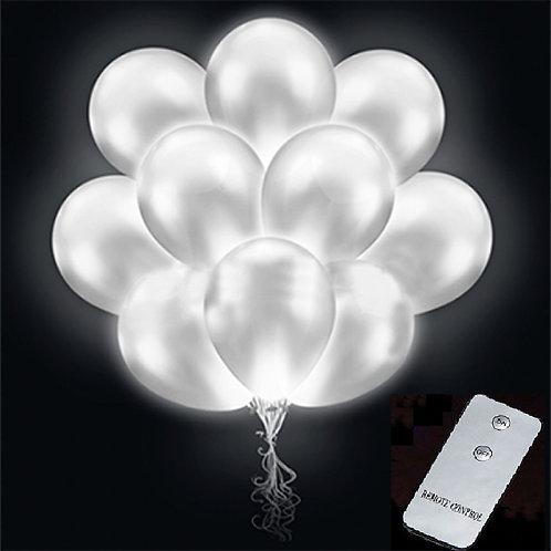 Светящиеся шары  с пультом (цвет белый)