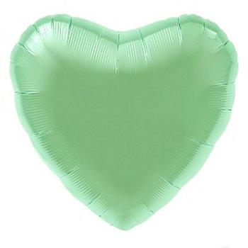 Сердце мятный сатин подарки Павловский посад Кузнецы