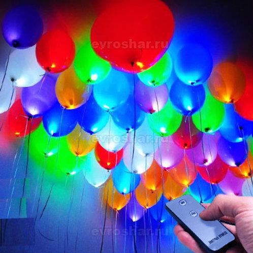 Светящиеся шары  с пультом (цвет ассорти)