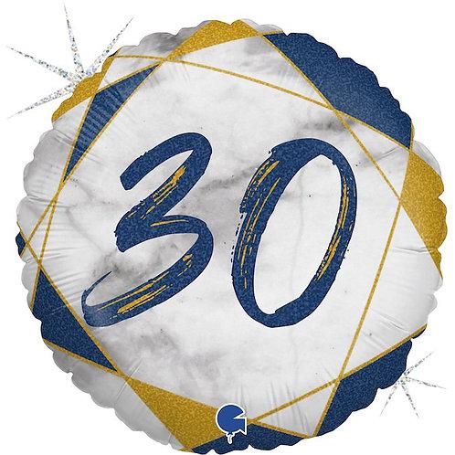 круглый шар с цифрой 30