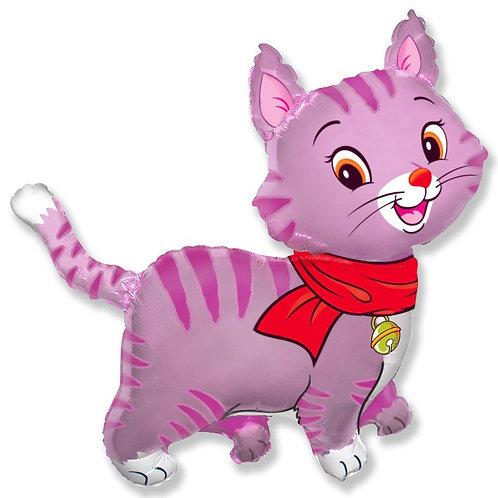 Котенок розовый с бантиком
