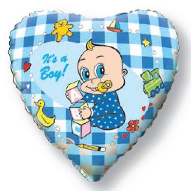 Шар  Сердце -Новорожденный мальчик