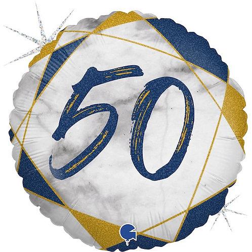 цифра 50 на круглом шаре