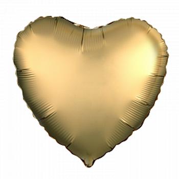 Сердце золото сатин купить Электросталь Щелково