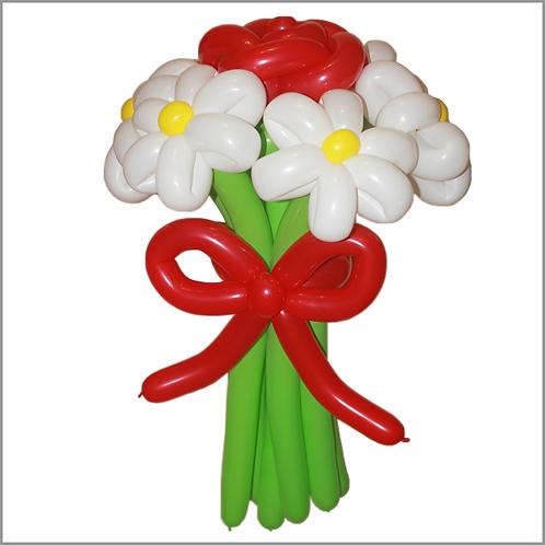 Ромашки с розой №11